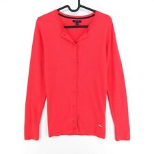 NAUTICA Red Crew Neck Cardigan Jumper Sweater Pullover Size S