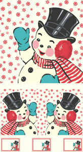 "FABRIC Moda ~ SWELL & SWEET CHRISTMAS ~ Urban Chiks (31158 11) PANEL 24"" x 44"""