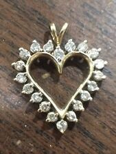 Diamond Heart Pendant Gold~ 3/4CTW in diamonds