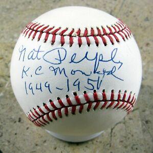 Nat Peeples - Autographed Ball - Kansas City Monarchs - Negro Leagues - 1949-50