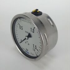 Wika pressure gauge manometer 0 to 1.6 bar New NMP