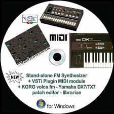 NEW Yamaha DX7/TX7 + KORG volca fm Patch Editor Librarian +VSTi Synth Windows PC