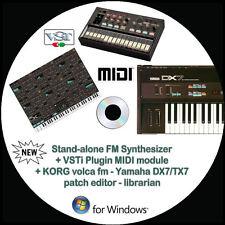 NEW Yamaha DX7/TX7 + KORG volca fm Patch Editor Librarian +VSTi Synth Windows PC