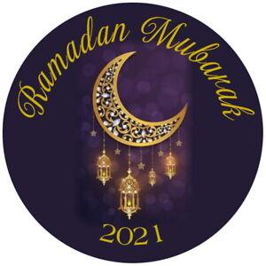 EID MUBARAK, RAMADAN GLOSS STICKERS MUSLIM RAMADAN CELEBRATION LABELS
