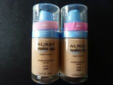 Almay Wake Up Liquid Makeup / Foundation - NEUTRAL  #040- TWO - Both New/Sealed
