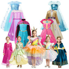 Kids Princess Elsa Anna Dresses for Girls Unicorn Cosplay Costume Party Clothing