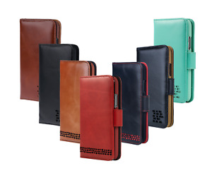 iPhone 8 Leather Wallet Case - For Right Handers - Premium Genuine Leather
