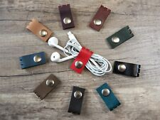 Cord holder leather Cord organizer leather Organizer earphone holder Cord keeper