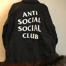 Anti Social Social Club Coach Jacket Black XL Authentic Original MADE IN USA OG