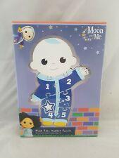 Moon y Número Puzzle De Madera Baby Me Bebé Niño Aprendizaje De Juguete De 18+ meses Nuevo