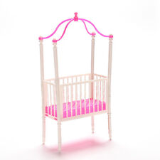 1 PcsSPashion Crib Baby Doll Bed Accessories Cot for Barbie Girls GiftsEC