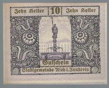 Notgeld - Österreich - Gemeinde Ried im Innkreis - 10 Heller - 1920