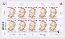 monaco 2018 centenary birth of Nelson Mandela president south africa 10v mnh FUL