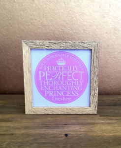 Fairy Tale Princess Light Up Frame, Home Decor, Gift for Her, Pink Gift for Girl