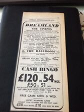 68-3 ephemera 1967 Advert Dreamland Margate Brian Auger Julie Driscoll The Tribe