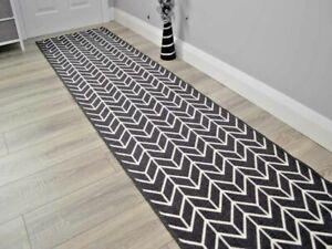 Dark Grey Extra Long Hall Hallway Corridor Very Narrow Floor Carpets Rugs Cheap