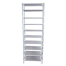 Shoe Rack Organizer Storage Pairs Shoes Shelves Space 10 Tier Racks Standing