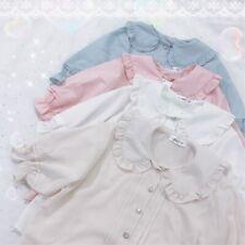 Japanese Lolita cute Doll Collar Shirt lolita Girl Summer Puffy Sleeve blouse
