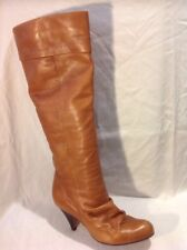 KG Brown Knee High Leather Boots Size 38