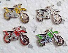Set 4 off road trials motorcross enduro motorcycle enamel pin / lapel badges