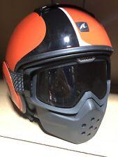Black And Orange Stripe Shark Raw Helmet Size X-large