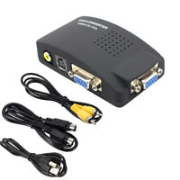 CVBS AV to VGA Converter VGA+S-video Composite RCA in to VGA out for PC to TV