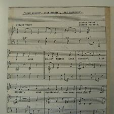 LIKE KISSIN LIKE HUGGIN voice / piano , songsheet Arthur Pickles  SYDNEY MASSEY