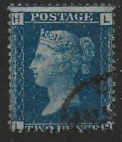 SG47.  2d.Deep Blue Plate 13. An Unusually Fine Used Example. Ref.0920