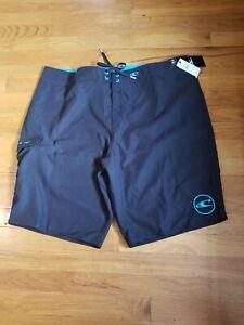 NWT O'Neill Men's Black Hyperdry Swim Santa Cruz Solid 2.0 Board Short Size 40