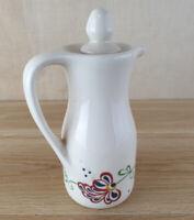 Matchmaker Rosgill Staffs Ceramic Floral Pattern Oil / Vinegar Jug