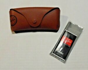 RAY BAN BROWN AUTHENTIC SUNGLASSES EYEGLASSES OPTICAL CASE ONLY