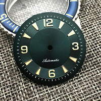 33.5MM Sterile Green Watch Dial Accessories for NH35A NH36 Watch Movement Parts