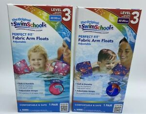 The Origingal SwimSchool Perfect Fit Fabric Arm Floats Soft And Durable 30-80lbs