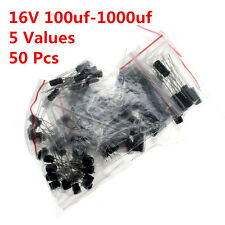 50pcs 5value 100UF-1000UF 16V Aluminum electrolytic capacitor assorted Radial