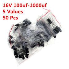 50pcs 5value 100UF-1000UF 16V Aluminum electrolytic capacitor assorted Radial