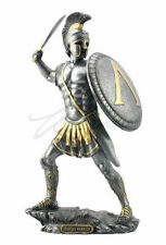Spartan Warrior With Sword & Hoplite Shield Statue Greek Figure HOME DECOR