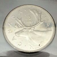 1964 Canada Twenty Five 25 Cents Canadian Quarter ICCS Graded Silver Coin B669