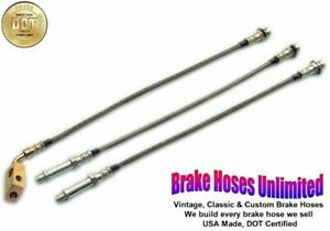 STAINLESS BRAKE HOSE SET Plymouth Gran Fury 1975 1976 1977