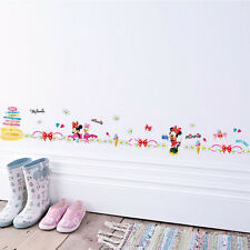Disney Daisy Minnie Flowers Wall Stickers Border Decals Kids Decor Girl Mural