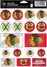 Chicago Blackhawks ~ Lot of (17) Stickers ~ 5x7 Inch Sheet
