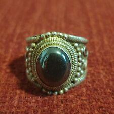 Old China Schmuck Silber 925 Achat Ring Gr. 18,5/  7,6 gr.