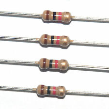 1K (1000 ohm) 1/4 watt (0.25W) 5% carbon film (CF) resistors 50pcs US SELLER