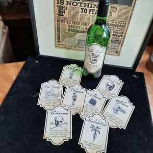 Harry Potter - Wine Label - Potion Labels - Choose from List or full Set of 9