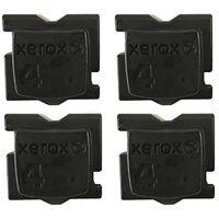 BLACK 4 PACK GENUINE XEROX ColorQube 8570/8580 INK - 108R00929 - 108R00930