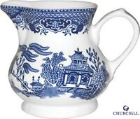 Churchill Earthenware Blue Willow Cream Jug 8.5oz Serveware Kitchen New