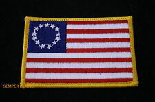 BETSY ROSS 1776 FLAG IRON ON EMBROIDERED FLAG HAT PATCH US FLAG USA PATRIOT