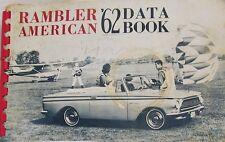 1962 AMC Rambler American Motors Salesman's Data Book Album Dealer Desk Book