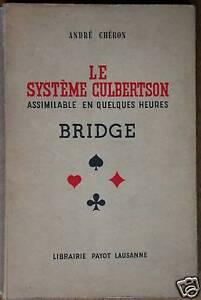 Système Culbertson Chéron Bridge technique jeu cartes