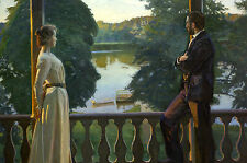 Richard Bergh, Nordic Summer Evening 1899 Art Print 10x7 inches Reproduction