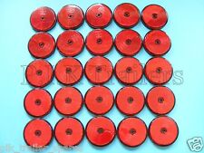 FREE P+P* 25 x Red Rear Screw on 60mm Round Reflectors - Trailers & Horse Box